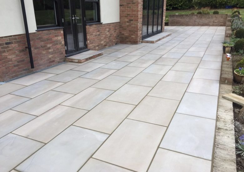 Natural Stone Patio from Diamond Services