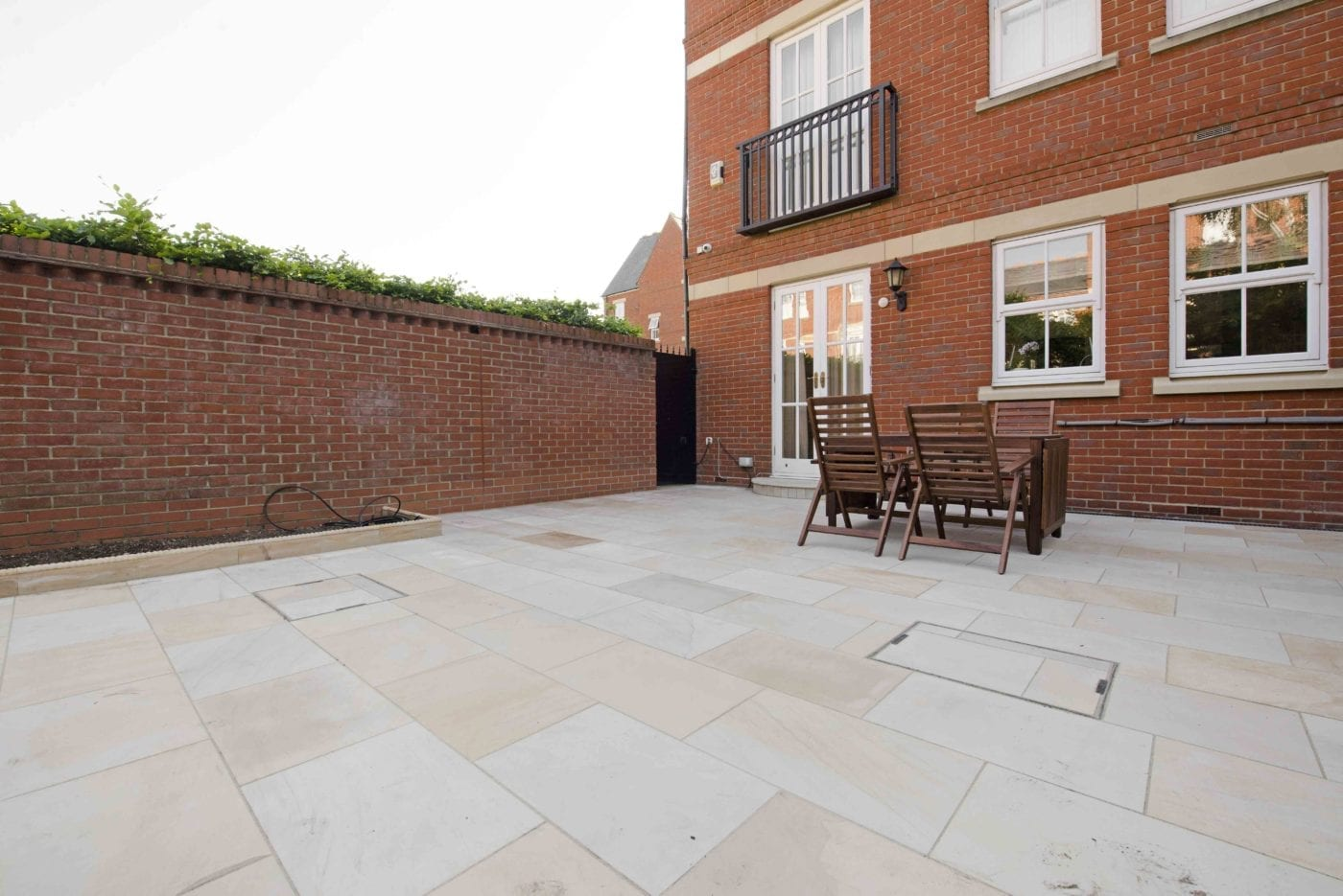 Patio with Natural Indian Sandstone