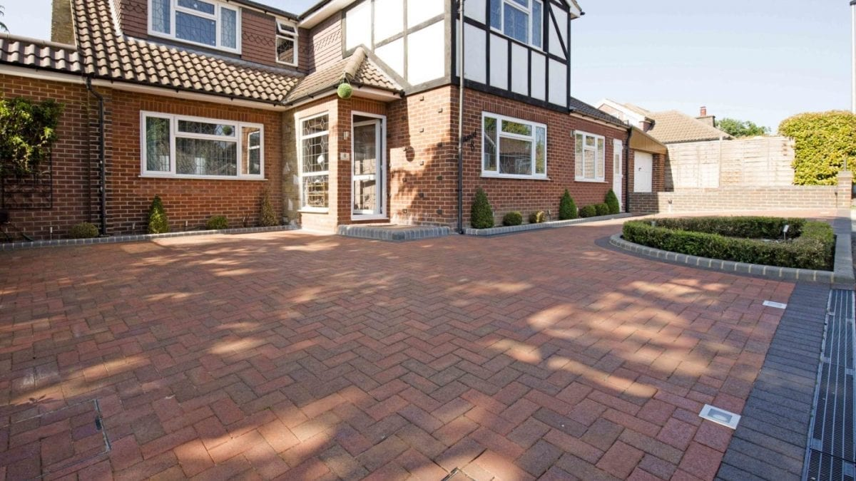 Driveway with Clay Pavers from Diamond Services