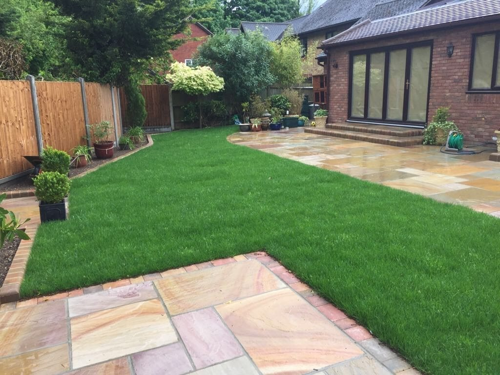 Natural Stone Patio by Diamond Services