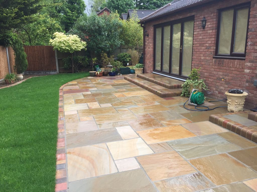 Natural Stone Patio by Diamond Driveways