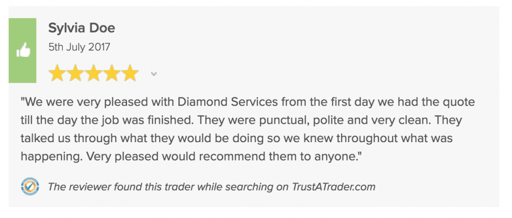 Trustatrader Driveway 5 star Review Diamond Services