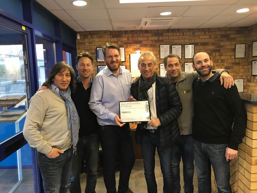 Diamond Driveway team receive their Ronacrete Approved Contractor Certificate