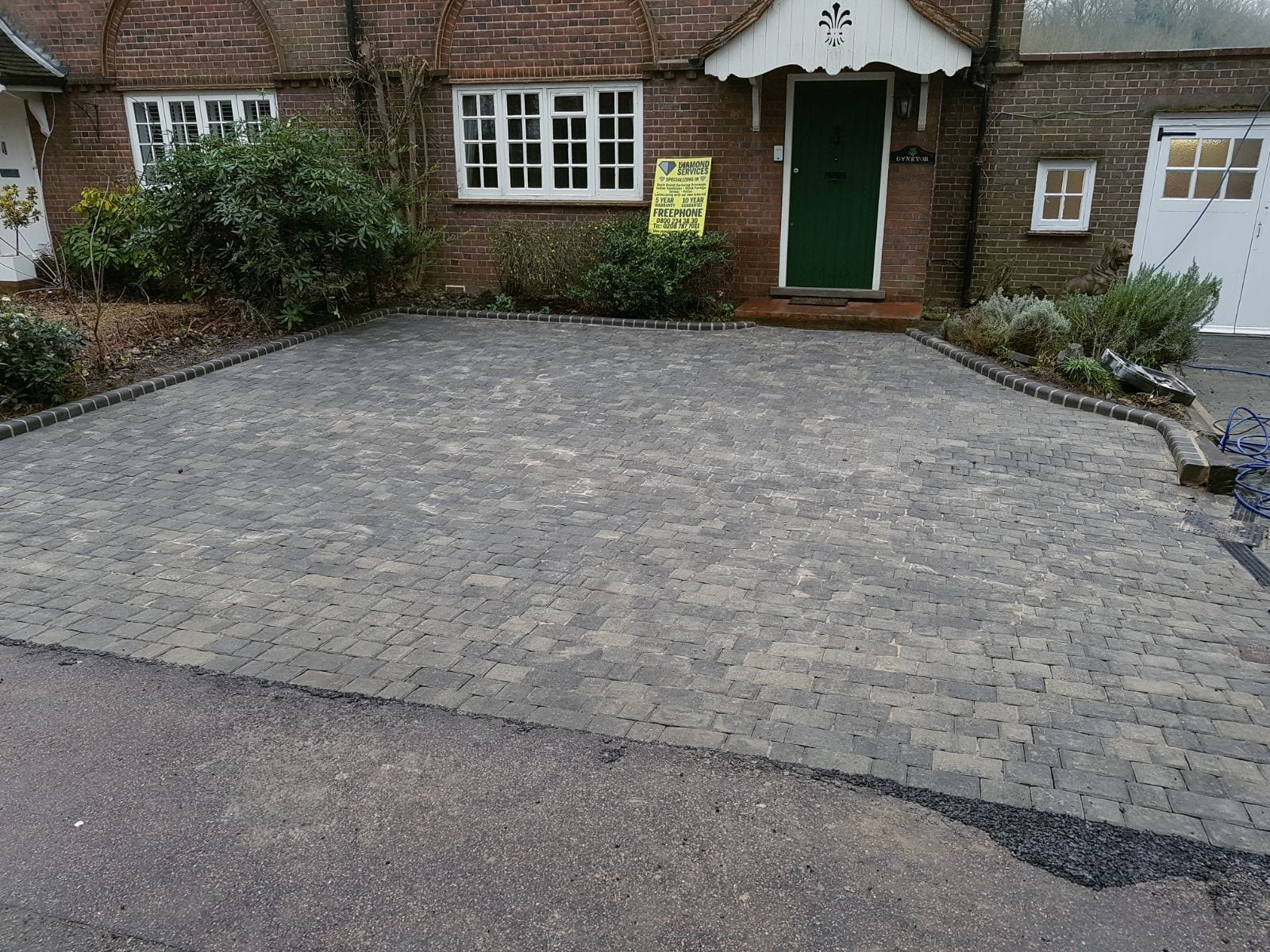 Block Paving Drive After from Diamond Driveways