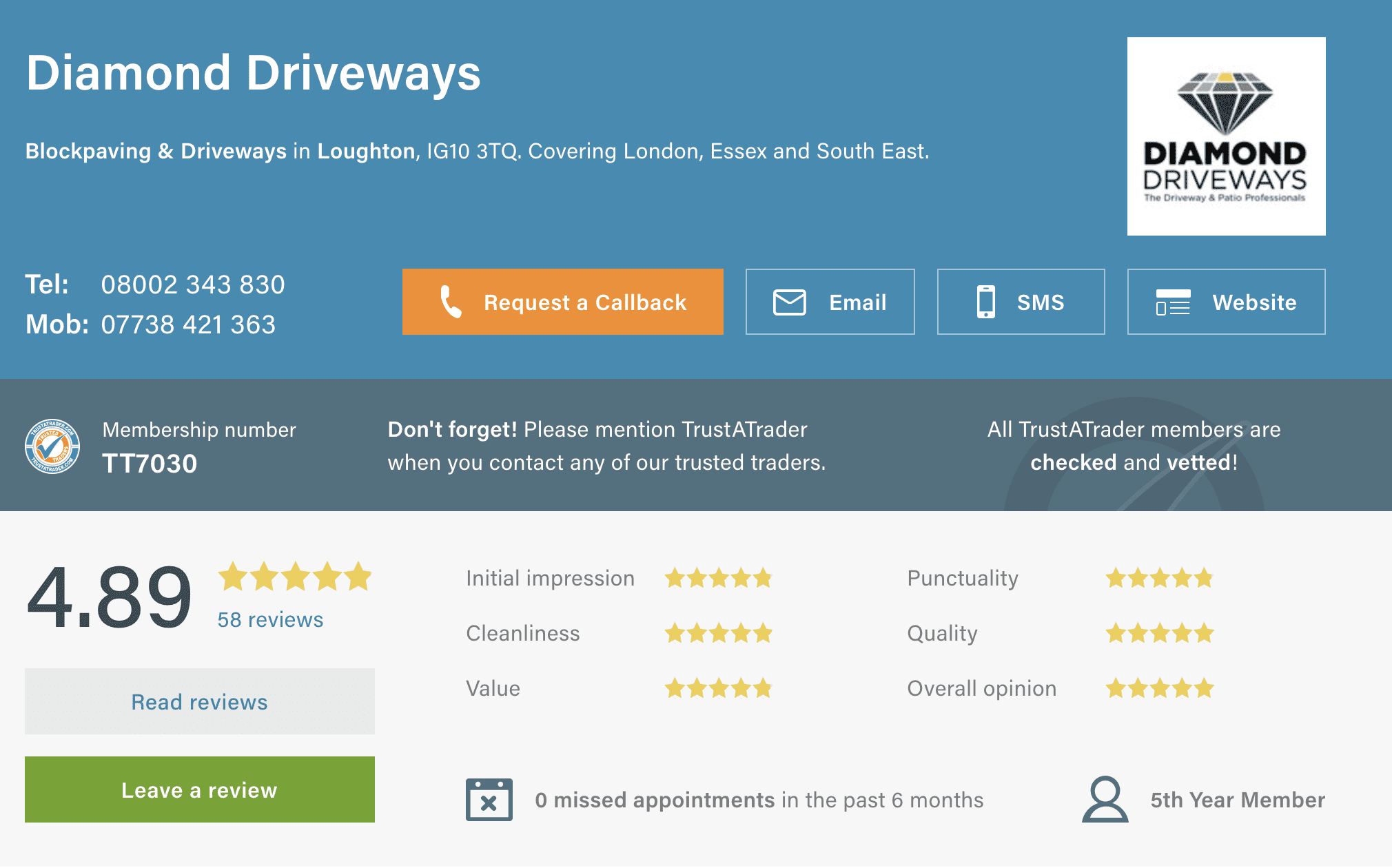Diamond Driveways Trustatrader Reviews