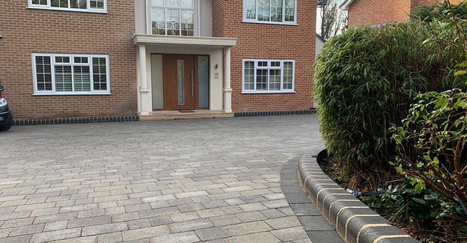 New Block Paving Driveway in Hadley Wood