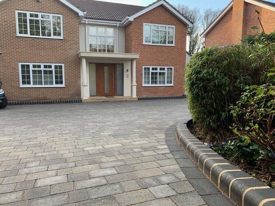 New Block Paving Driveway in Hadley Wood