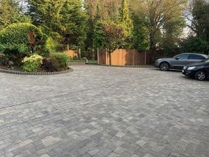 View from front house - new block paving driveway hadley wood