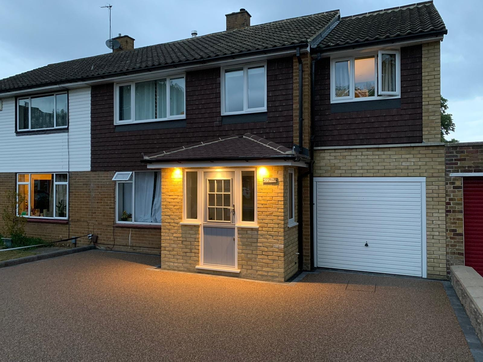 Resin driveway Bromley at Night