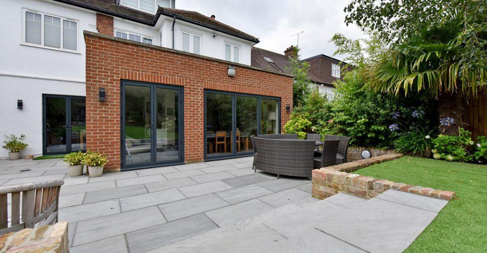 East Finchley Garden New Patio Diamond Driveways